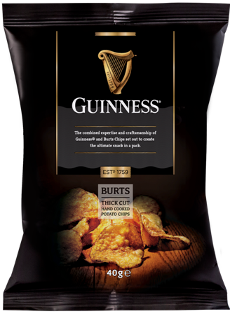 Guinness Thick Cut Hand Cooked Crisps 40g
