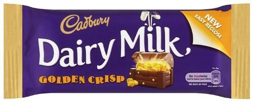 Cadburys Golden Crisp Chocolate bar 50g