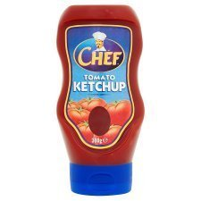 Chef Ketchup Top Down 390g