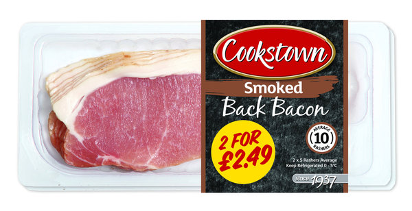 Cookstown Smoked Back Bacon 2x150g
