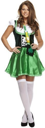Lady Fancy Dress Adult size St Patricks Day Costume