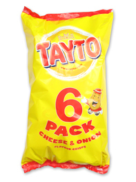Tayto Crisps Cheese & Onion 6 pack